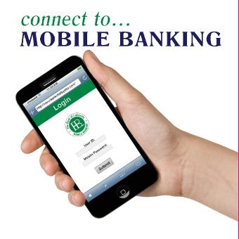 Mobile Banking App Icon - Depicts an image of a smartphone displaying the Mobile Banking App - There is no link associated with this icon