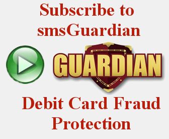 smsGuardian Debit Card Fraud Protection Icon - Click on this icon to sign up for smsGuardian Debit Card Fraud Protection for your Bank of LaFayette Debit  Card
