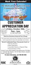 Shred Day Flyer - October 20